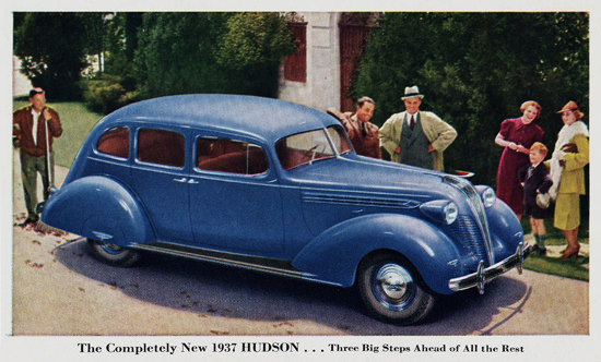 Hudson Sedan Three Big Steps 1937 | Vintage Cars 1891-1970