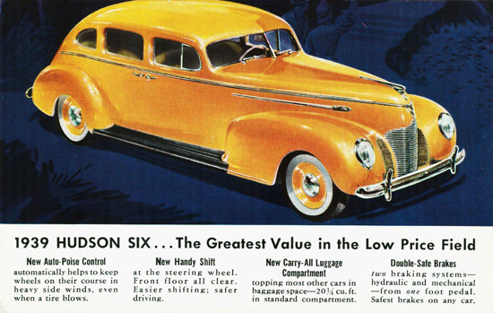 Hudson Six Sedan 1939 | Vintage Cars 1891-1970