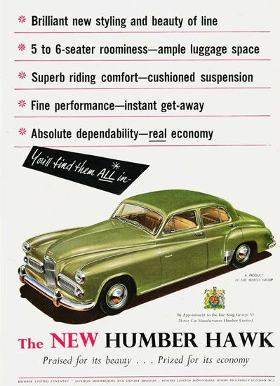 Humber Hawk 1953 | Vintage Cars 1891-1970