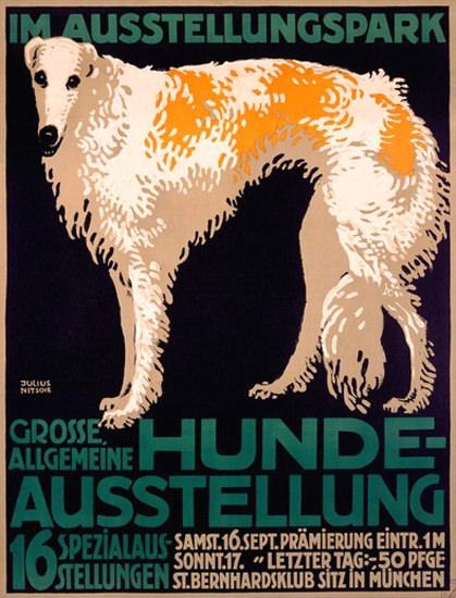 Hunde Ausstellung Ausstellungspark Muenchen | Vintage Ad and Cover Art 1891-1970