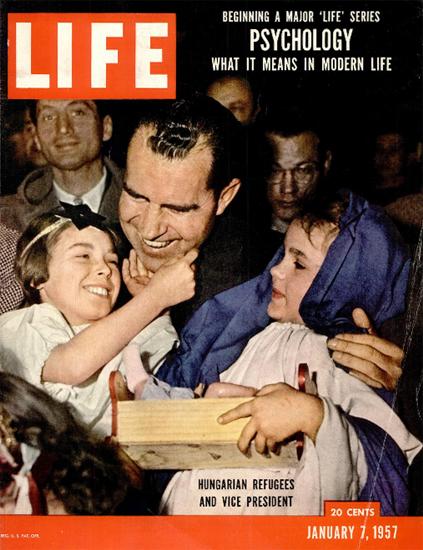 Hungarian Refugees Richard Nixon 7 Jan 1957 Copyright Life Magazine | Life Magazine Color Photo Covers 1937-1970