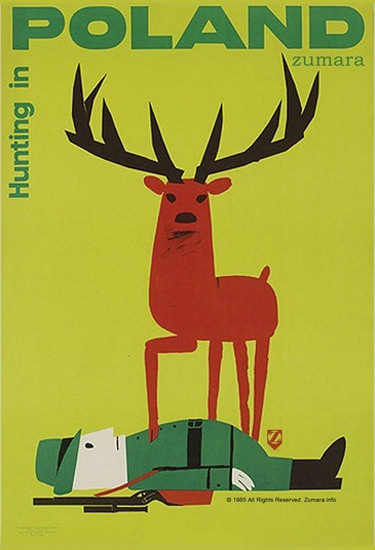 Hunting In Poland Deer Hunter | Vintage Travel Posters 1891-1970