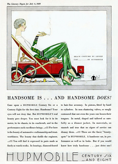 Hupmobile Century Roadster 1929 Handsome by Bernard Boutet de Monvel | Vintage Cars 1891-1970