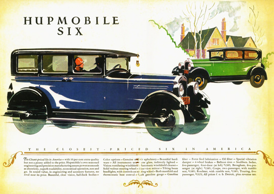 Hupmobile Six Sedan Brougham 1927 | Vintage Cars 1891-1970