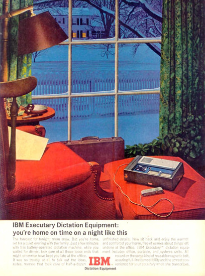 IBM Executary Dictation Equipment 1963 | Vintage Ad and Cover Art 1891-1970