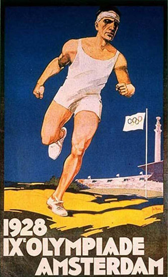 IX Olympiade Amsterdam Summer Olympics 1928 | Vintage Ad and Cover Art 1891-1970