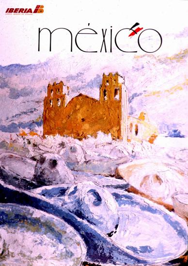 Iberia Mexico 1950   Vintage Travel Posters 1891-1970