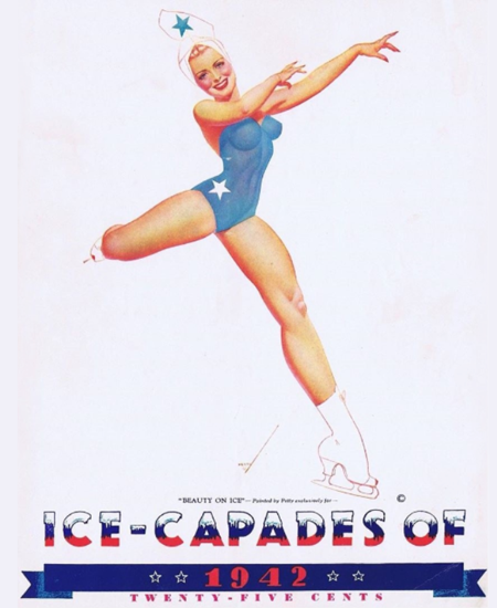 Ice-Capades of 1942 Beauty on Ice George Petty Sex Appeal | Sex Appeal Vintage Ads and Covers 1891-1970