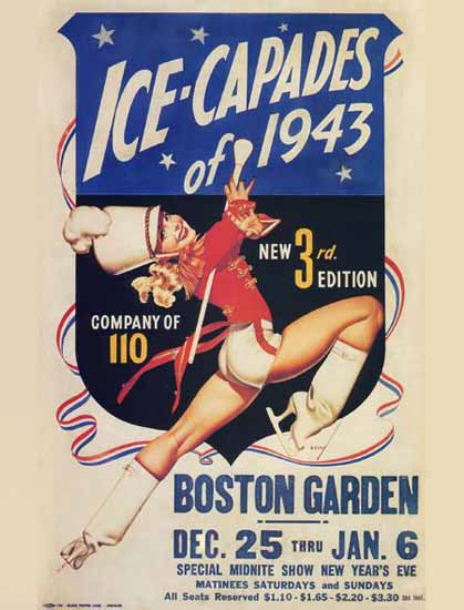 Ice-Capades of 1943 Boston Garden George Petty Sex Appeal | Sex Appeal Vintage Ads and Covers 1891-1970