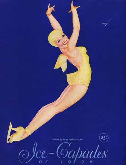 Ice-Capades of 1946 Pin-Up Girl George Petty Sex Appeal | Sex Appeal Vintage Ads and Covers 1891-1970