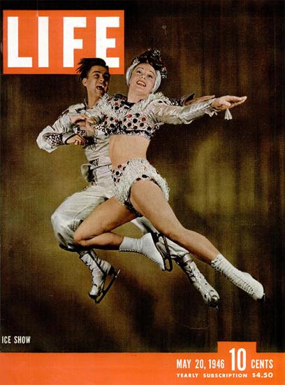 Ice Show 20 May 1946 Copyright Life Magazine   Life Magazine Color Photo Covers 1937-1970