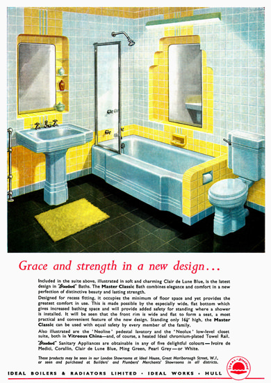 Ideal-Standard Vitreous China | Vintage Ad and Cover Art 1891-1970