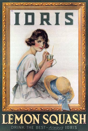 Idris Lemon Squash United Kingdom | Sex Appeal Vintage Ads and Covers 1891-1970