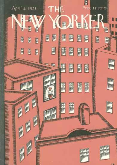 Ilonka Karasz The New Yorker 1925_04_04 Copyright | The New Yorker Graphic Art Covers 1925-1945