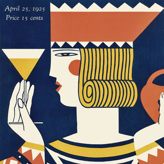 Ilonka Karasz The New Yorker 1925_04_25 Copyright crop | Best of 1920s Ad and Cover Art