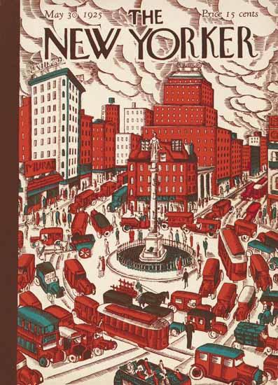 Ilonka Karasz The New Yorker 1925_05_30 Copyright | The New Yorker Graphic Art Covers 1925-1945