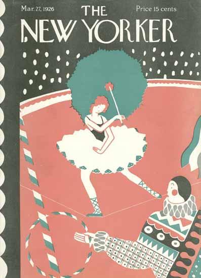 Ilonka Karasz The New Yorker 1926_03_27 Copyright | The New Yorker Graphic Art Covers 1925-1945