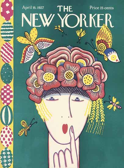 Ilonka Karasz The New Yorker 1927_04_16 Copyright | The New Yorker Graphic Art Covers 1925-1945