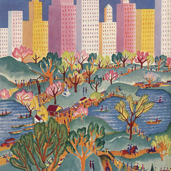 Ilonka Karasz The New Yorker 1928_04_21 Copyright crop | Best of 1920s Ad and Cover Art
