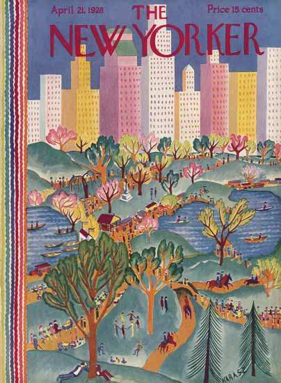Ilonka Karasz The New Yorker 1928_04_21 Copyright | The New Yorker Graphic Art Covers 1925-1945
