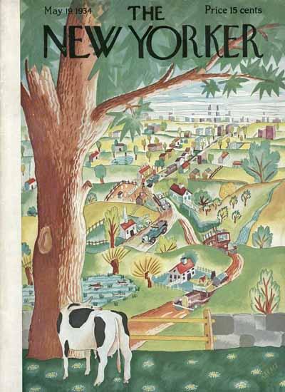 Ilonka Karasz The New Yorker 1934_05_19 Copyright | The New Yorker Graphic Art Covers 1925-1945