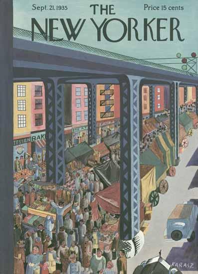 Ilonka Karasz The New Yorker 1935_09_21 Copyright   The New Yorker Graphic Art Covers 1925-1945