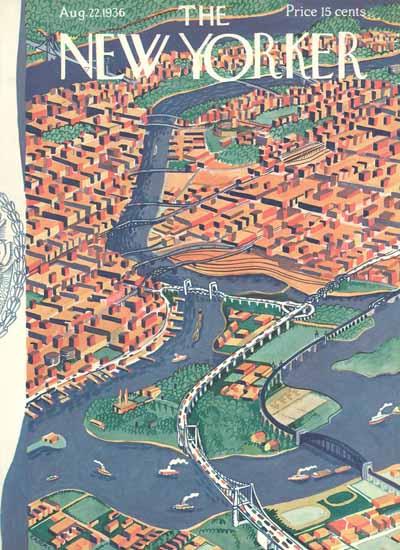 Ilonka Karasz The New Yorker 1936_08_22 Copyright | The New Yorker Graphic Art Covers 1925-1945