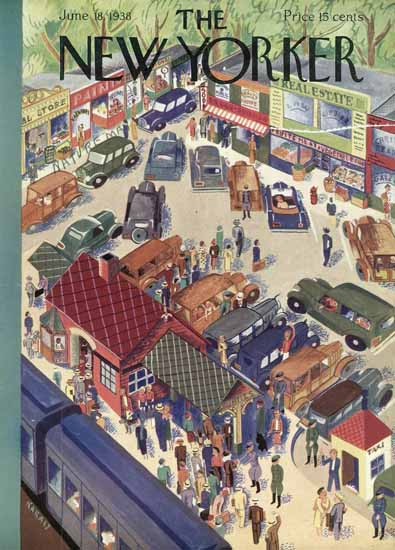 Ilonka Karasz The New Yorker 1938_06_18 Copyright | The New Yorker Graphic Art Covers 1925-1945