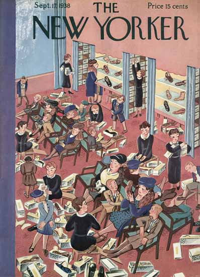 Ilonka Karasz The New Yorker 1938_09_17 Copyright | The New Yorker Graphic Art Covers 1925-1945