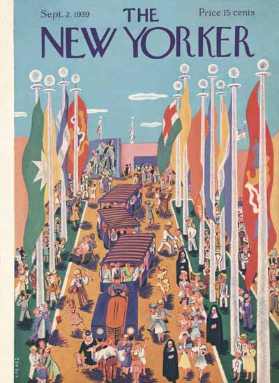 Ilonka Karasz The New Yorker 1939_09_02 Copyright | The New Yorker Graphic Art Covers 1925-1945