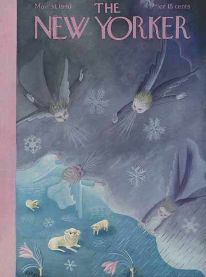 Ilonka Karasz The New Yorker 1940_03_30 Copyright | The New Yorker Graphic Art Covers 1925-1945