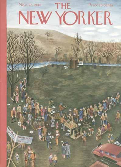 Ilonka Karasz The New Yorker 1940_11_23 Copyright | The New Yorker Graphic Art Covers 1925-1945