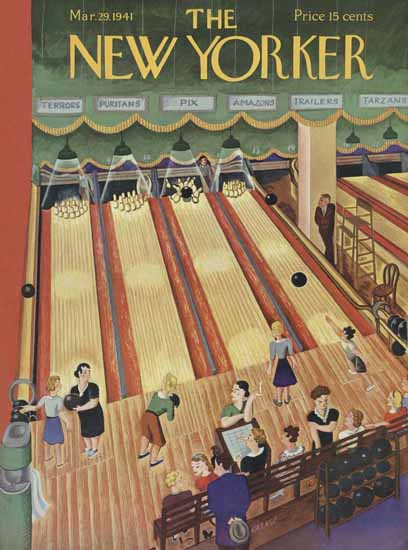 Ilonka Karasz The New Yorker 1941_03_29 Copyright | The New Yorker Graphic Art Covers 1925-1945