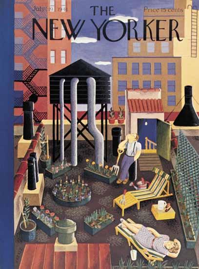 Ilonka Karasz The New Yorker 1941_07_19 Copyright | The New Yorker Graphic Art Covers 1925-1945