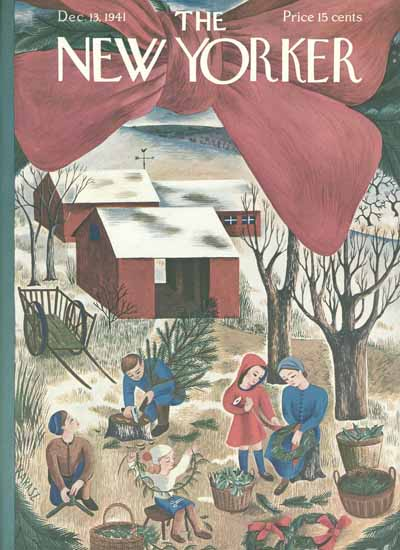 Ilonka Karasz The New Yorker 1941_12_13 Copyright | The New Yorker Graphic Art Covers 1925-1945