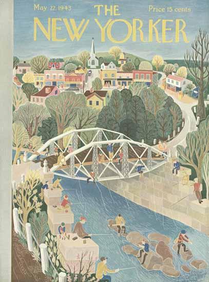 Ilonka Karasz The New Yorker 1943_05_22 Copyright | The New Yorker Graphic Art Covers 1925-1945