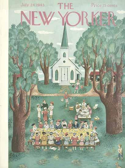 Ilonka Karasz The New Yorker 1943_07_24 Copyright | The New Yorker Graphic Art Covers 1925-1945