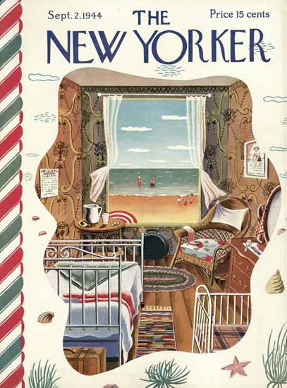 Ilonka Karasz The New Yorker 1944_09_02 Copyright | The New Yorker Graphic Art Covers 1925-1945