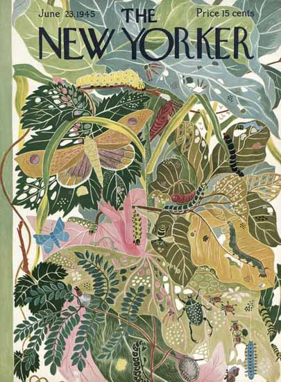 Ilonka Karasz The New Yorker 1945_06_23 Copyright | The New Yorker Graphic Art Covers 1925-1945