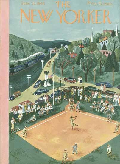 Ilonka Karasz The New Yorker 1946_06_29 Copyright | The New Yorker Graphic Art Covers 1946-1970