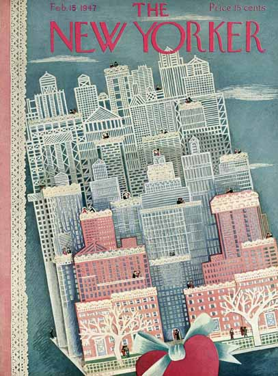 Ilonka Karasz The New Yorker 1947_02_15 Copyright | The New Yorker Graphic Art Covers 1946-1970