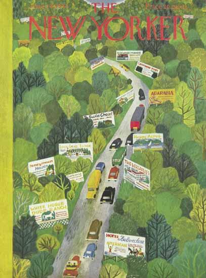 Ilonka Karasz The New Yorker 1947_06_14 Copyright | The New Yorker Graphic Art Covers 1946-1970