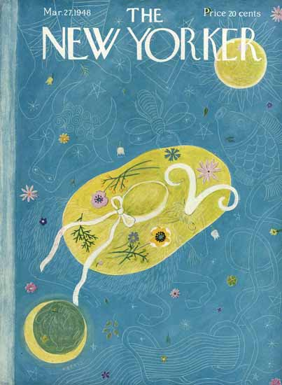 Ilonka Karasz The New Yorker 1948_03_27 Copyright | The New Yorker Graphic Art Covers 1946-1970