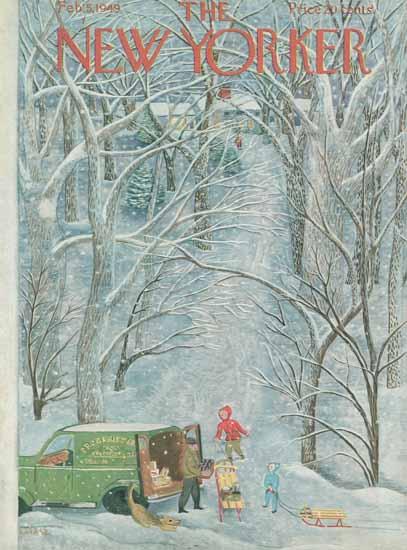 Ilonka Karasz The New Yorker 1949_02_05 Copyright | The New Yorker Graphic Art Covers 1946-1970