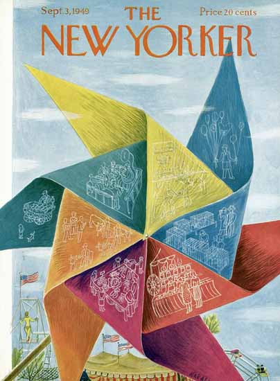 Ilonka Karasz The New Yorker 1949_09_03 Copyright | The New Yorker Graphic Art Covers 1946-1970