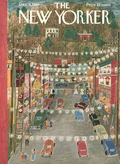 Ilonka Karasz The New Yorker 1950_12_09 Copyright | The New Yorker Graphic Art Covers 1946-1970