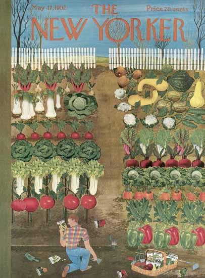 Ilonka Karasz The New Yorker 1952_05_17 Copyright | The New Yorker Graphic Art Covers 1946-1970