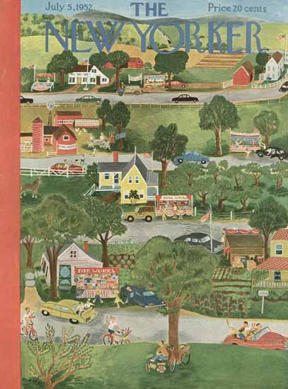 Ilonka Karasz The New Yorker 1952_07_05 Copyright | The New Yorker Graphic Art Covers 1946-1970