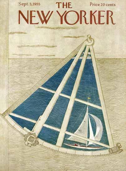 Ilonka Karasz The New Yorker 1955_09_03 Copyright | The New Yorker Graphic Art Covers 1946-1970