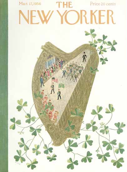 Ilonka Karasz The New Yorker 1956_03_17 Copyright | The New Yorker Graphic Art Covers 1946-1970